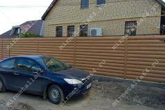Забор из металло сайдинга
