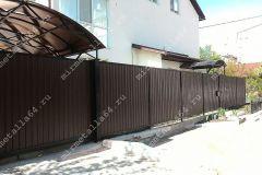 Откатные ворота, навес для авто, забор